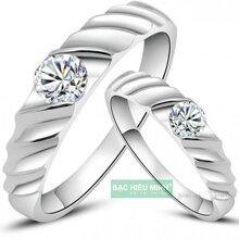 Nhẫn đôi Bạc Hiểu Minh NC257 - Cùng nhau