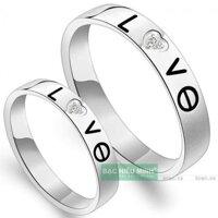 Nhẫn đôi Bạc Hiểu Minh NC283 - Love
