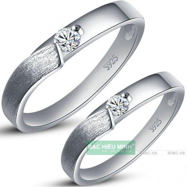 Nhẫn đôi Bạc Hiểu Minh NC305 - Nhẹ nhàng
