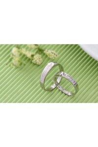 Nhẫn đôi Bạc Hiểu Minh NC326 - Yêu thương