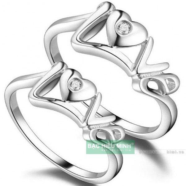 Nhẫn đôi Bạc Hiểu Minh NC331 - Tình yêu