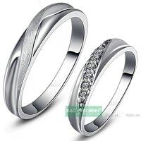 Nhẫn đôi Bạc Hiểu Minh NC347 - Tình yêu thầm kín