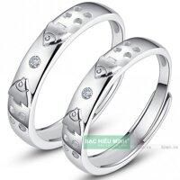 Nhẫn đôi Bạc Hiểu Minh NC365 - Song ngư