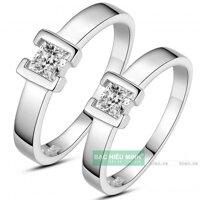 Nhẫn đôi Bạc Hiểu Minh NC370 - Kết nối