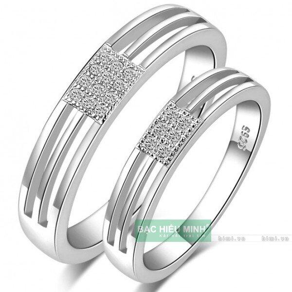Nhẫn đôi Bạc Hiểu Minh NC374 - Tình yêu