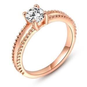 Nhẫn mạ vàng đính pha lê Hana Trade R0004 - màu WP/RGP