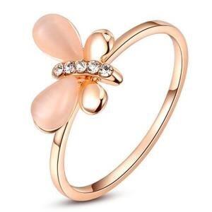 Nhẫn mạ vàng đính pha lê Hana Trade R0007 - màu WP/RGP