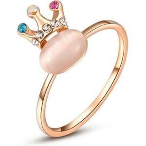 Nhẫn mạ vàng đính pha lê Hana Trade R0009 - màu WP/RGP