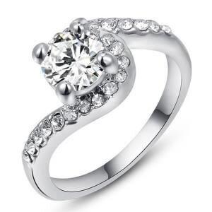 Nhẫn mạ vàng đính pha lê Hana Trade R0002 - màu RGP/WP