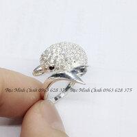 Nhẫn nữ cá heo đính đá