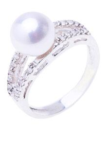 Nhẫn tình yêu BSD Silver đính ngọc trai trắng và đá trắng