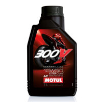 Nhớt cho xe mô tô phân khối lớn Motul 300V Factory Line 15W50 1 lít