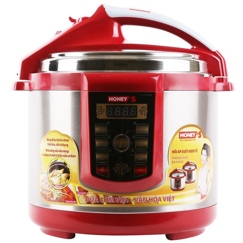 Nồi áp suất Honey's HO-PC901D50 (HO-PC901-D50) - Nồi điện, 5.0 lit, 900W