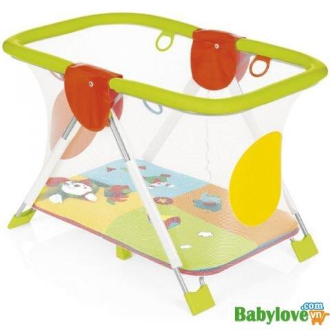 Nôi chơi cho bé bằng nhựa chống thâm Brevi Soft & Play A/C Mondocirco BRE587