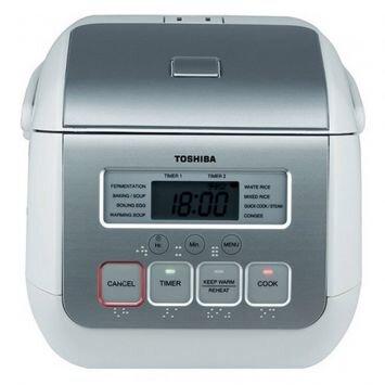 Nồi cơm điện Toshiba RC-5MS (RC-5MS(WT)VN) - Nồi điện tử, 0.5 lít