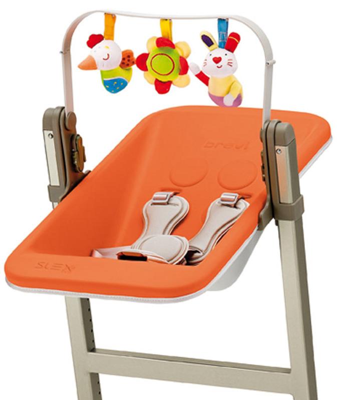 Nôi gắn ghế ăn BREVI SLEX EVO BRE223 – màu 262/ 234