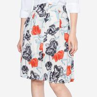 Chân váy họa tiết hoa đa sắc The One Fashion VDS1542HKE1