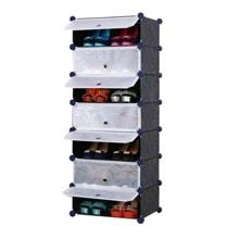 Tủ giày dép đa năng 7 ngăn Tupper Cabinet TC-7B-W