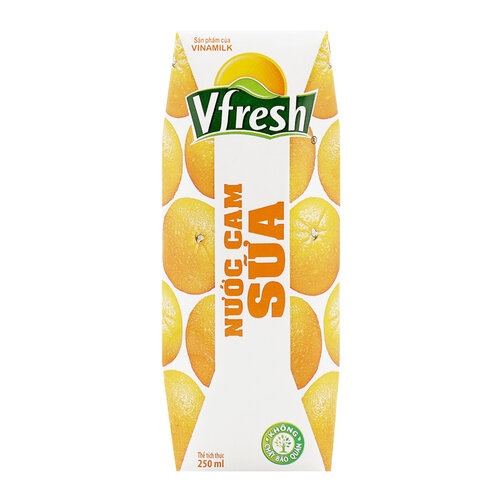 Nước Cam Sữa Vfresh Vinamilk Hộp 250ml