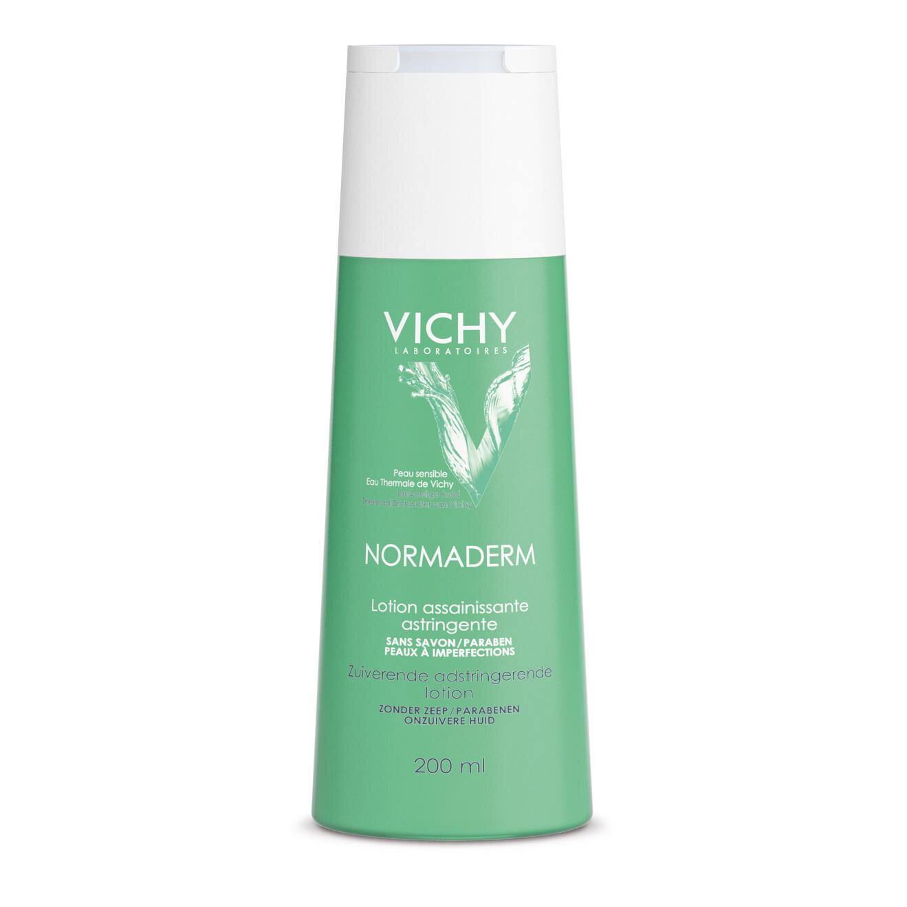 Nước cân bằng làm mềm da, sát khuẩn và se khít lỗ chân lông Vichy Normaderm Purifying Pore Tightening Toner
