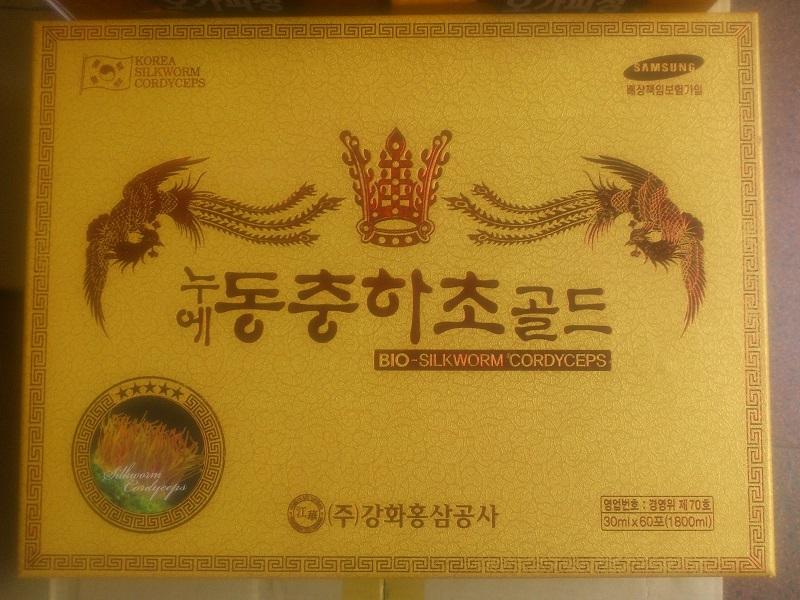 Nước đông trùng hạ thảo Kanghwa Bio-Silkworm Cordyceps 60 gói