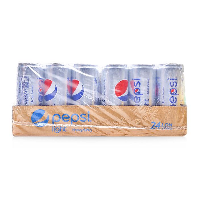 Nước giải khát Pepsi Light thùng 24 lon x 330ml - không đường