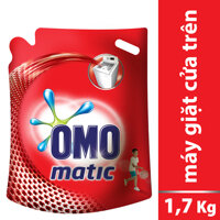 Nước giặt Omo Matic cửa trên 1,7kg - Dạng túi