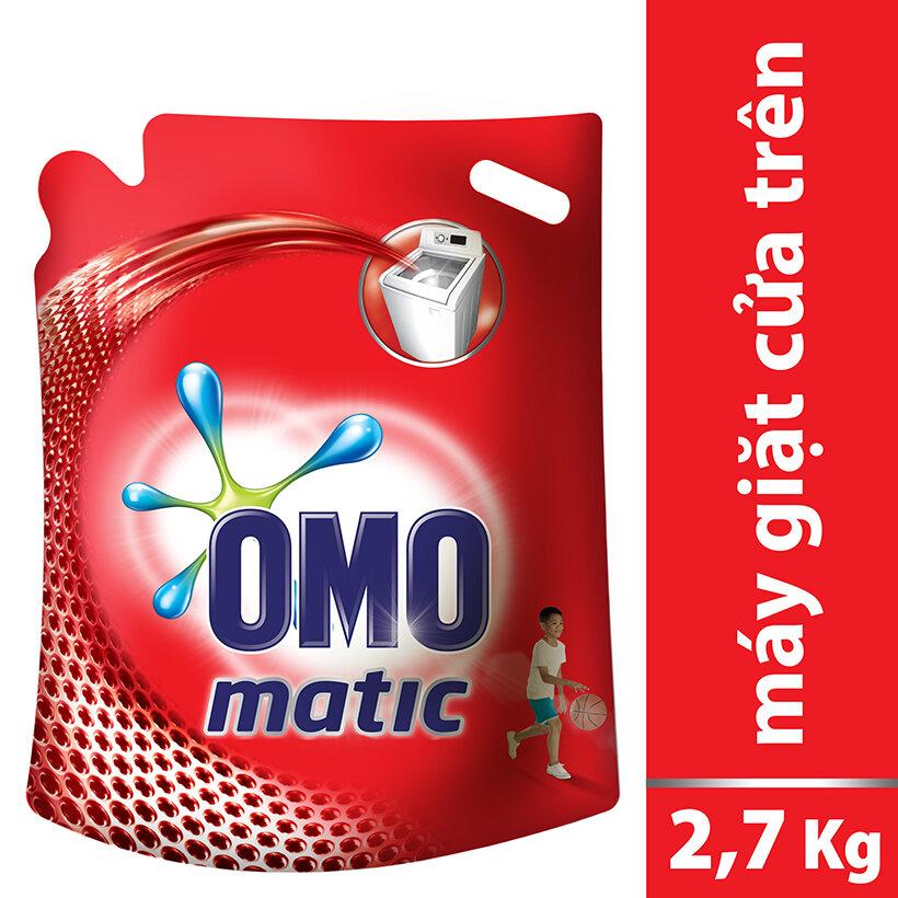 Nước Giặt OMO Matic Túi Cửa Trên 2.7kg