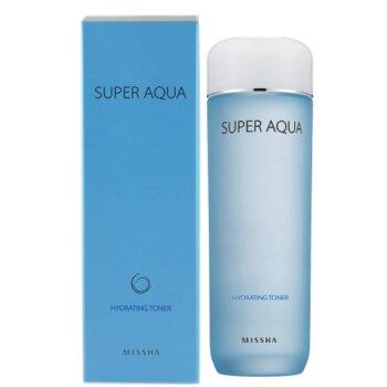 Nước hoa hồng dành cho da khô Missha Super Aqua Hydrating toner 150ml