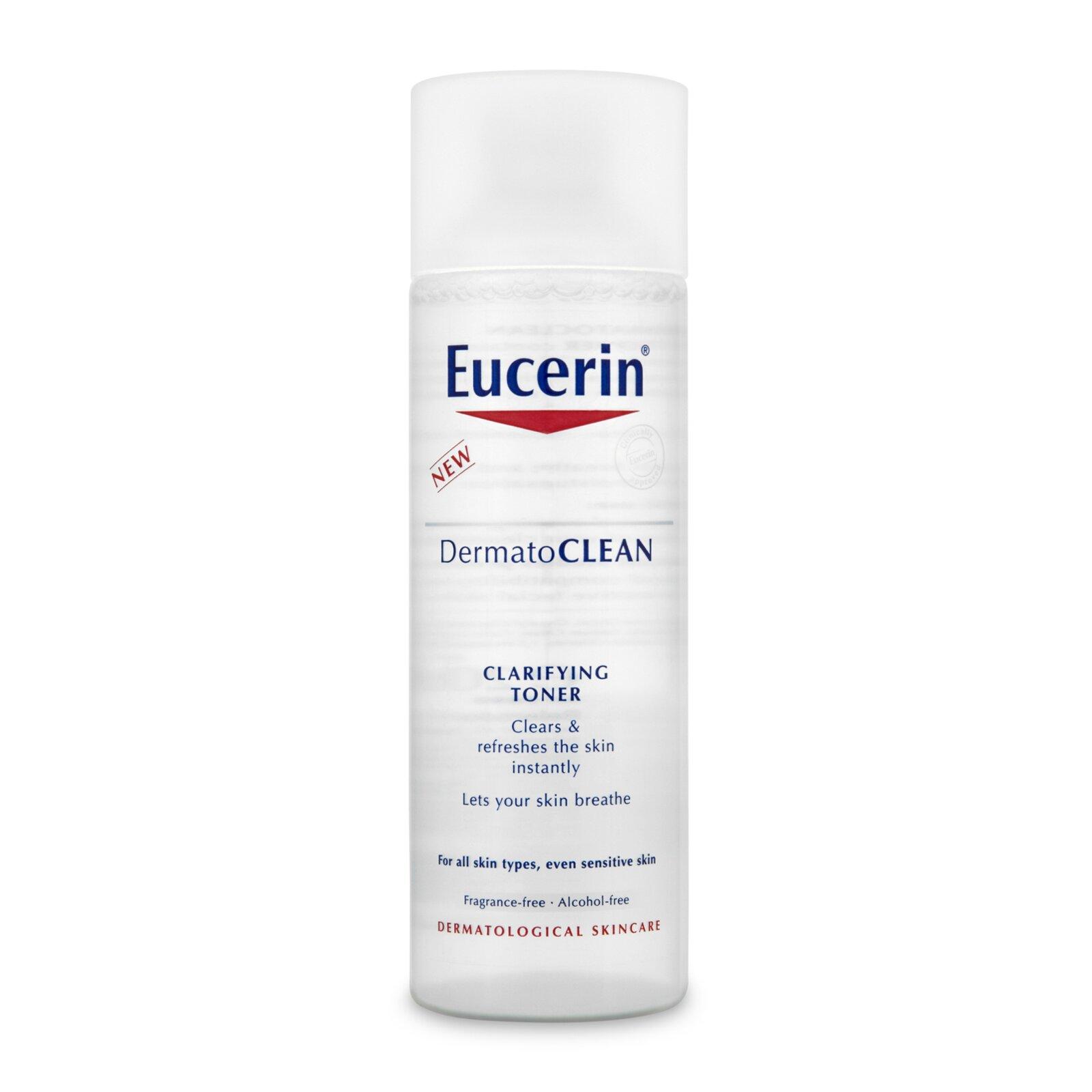 Nước hoa hồng Eucerin Dermatoclean Clarifying Toner - 200ml, cho da nhạy cảm