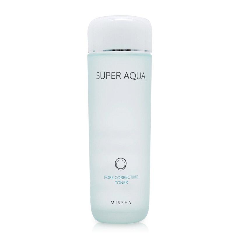 Nước hoa hồng se khít lỗ chân lông Missha Super Aqua Pore Correcting Toner 150ml
