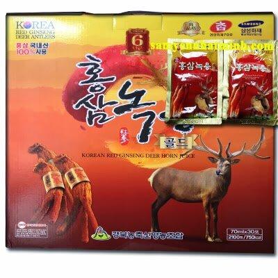 Nước hồng sâm nhung hươu Gyeongbuk Hàn Quốc