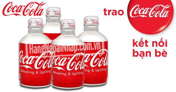 Nước ngọt coca cola chai nhôm Nhật 300ml - Thùng gồm 24 lon