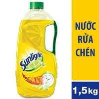 Nước Rửa Chén Sunlight Chanh Dạng Chai 1.5kg