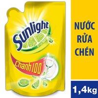 Nước Rửa Chén Sunlight Chanh Dạng Túi 1.4kg