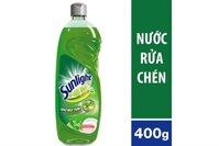 Nước rửa chén Sunlight hương Chanh Trà xanh chai 400g