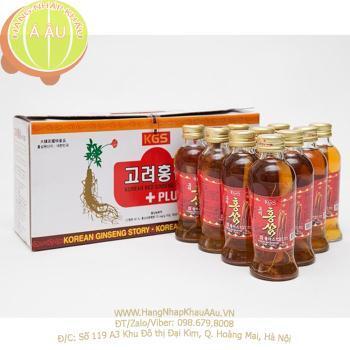 Nước Sâm có củ KGS Hàn Quốc hộp 10 chai x 120ml