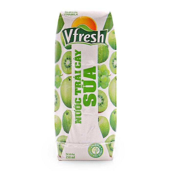 Nước trái cây sữa Vfresh hộp 250ml