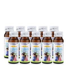 Nước uống bổ sung vitamin tăng trưởng cho trẻ JpanWell TopLoan hộp 10 chai của Nhật Bản