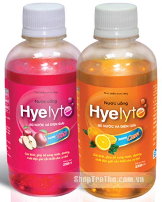 Nước uống bù nước và điện giải Hyelyte hương táo 250ml