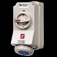 Ổ cắm công nghiệp có công tắc 16A-3P-230V-6H-IP67