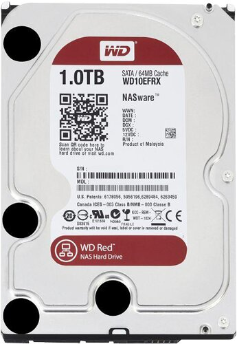 """Ổ cứng HDD Western WD Caviar Red - 1TB/ 7200rpm/ 64MB/ Sata 3/ 3.5"""" - WD10EFRX"""