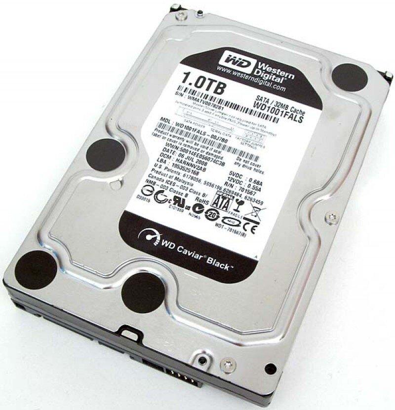 Ổ cứng HDD Western WD Caviar Black - 1TB - SATA3 6Gb/s - 7200vòng/phút - 64MB Cache