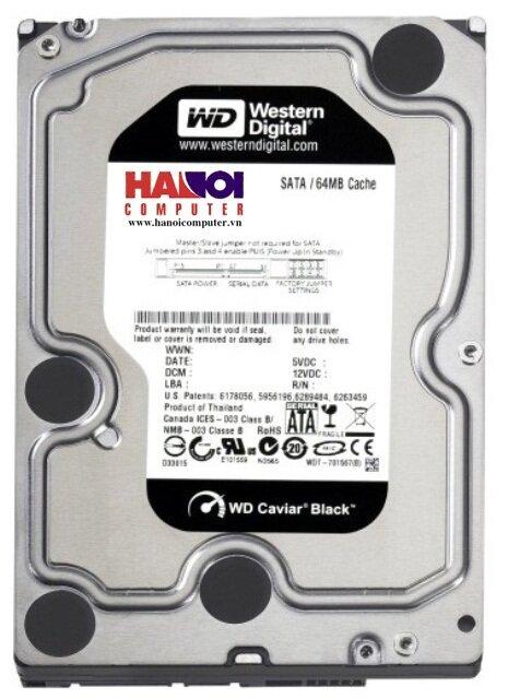 Ổ cứng HDD Western WD Caviar Black 500GB/ 7200rpm/ SATA3/ 32MB Cache