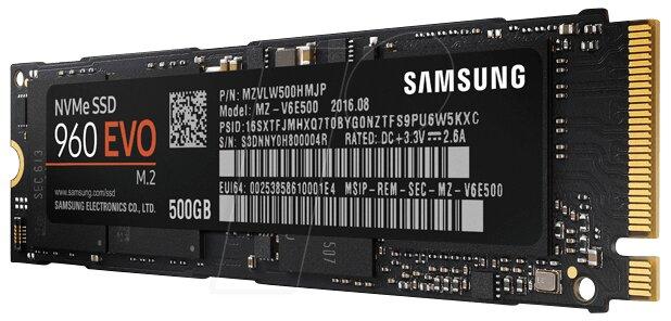 Ổ cứng SSD Samsung 960 EVO PCIe NVMe - M.2 (MZ-V6E500BW) - 500GB