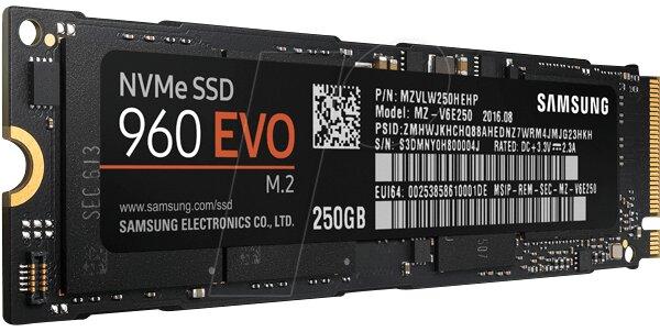 Ổ cứng SSD Samsung 960 EVO 250GB PCIe NVMe - M.2 (MZ-V6E250BW)