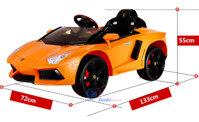 Ô tô điện Lamborghini trẻ em 6618 - màu đỏ/ cam