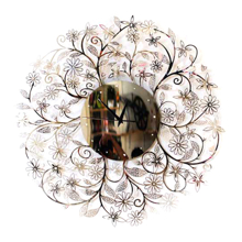 Đồng hồ gương hoa mỏng CD002