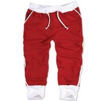Quần lửng thể thao nam màu đỏ có 3 sọc LN002