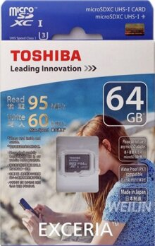 Thẻ nhớ MicroSDXC Toshiba Exceria Pro M401 64GB UHS-I U3 4K 95MB/s